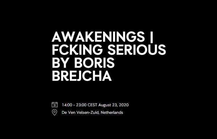 Awakenings | FCKNG Serious by Boris Brejcha (outdoor)